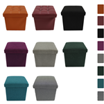 Mobili Rebecca Pouffe Sitting 8 Colors Cube Container Cotton Storage