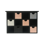 Mobili Rebecca Spice Rack Chest of Drawers Light Wood Black 6 Drawers 26x34,5x10