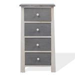 Mobili Rebecca Chest of Drawers White and Grey 4 Drawers Shabby 73x37x27