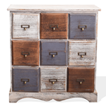Mobili Rebecca Chest of drawers cabinet 9 drawers white gold grey 63x60x23