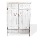 Mobili Rebecca Sideboard Cabinet Furniture Wood Shabby Chic White 70x51x30