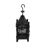 Rebecca Mobili Black Metal Candle Holder Lantern With Hook 38x14x14
