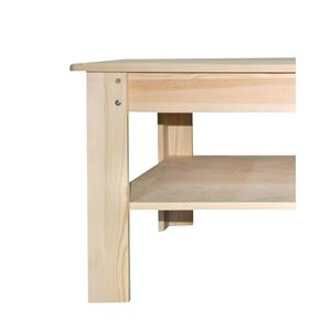 Prodotto re4454 mobili rebecca tavolini da salotto legno chiaro rustico soggiorno mobili - Mobili salotto bassi ...