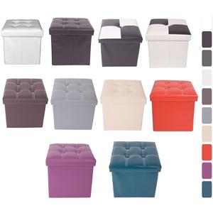 Prodotto poufquadrato puff contenitore 10 colori for Puff arredo