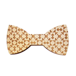 Mobili Rebecca® Butterfly Wood Bow Tye Rhombus Men Magnet Dots Natural Present Home decor
