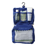 Mobili Rebecca Beauty Case Hanging Toiletry Bag Zip Hook Blue Plastic 20x25x25