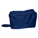 Mobili Rebecca Toiletry Bag 2 Compartments Zip Blue Plastic Washable 13x28x10