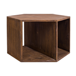 Mobili Rebecca Low Table Side Table Wood Brown Urban Style 41x60x60