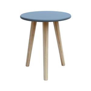 Rebecca Mobili Table Basse Table De Salon Gris Bois Mdf Paulownia 39x34x34