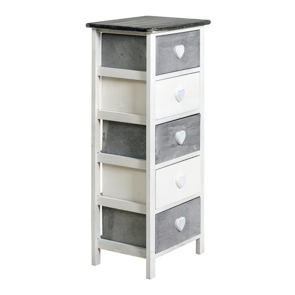 chiffonnier gris et blanc. Black Bedroom Furniture Sets. Home Design Ideas