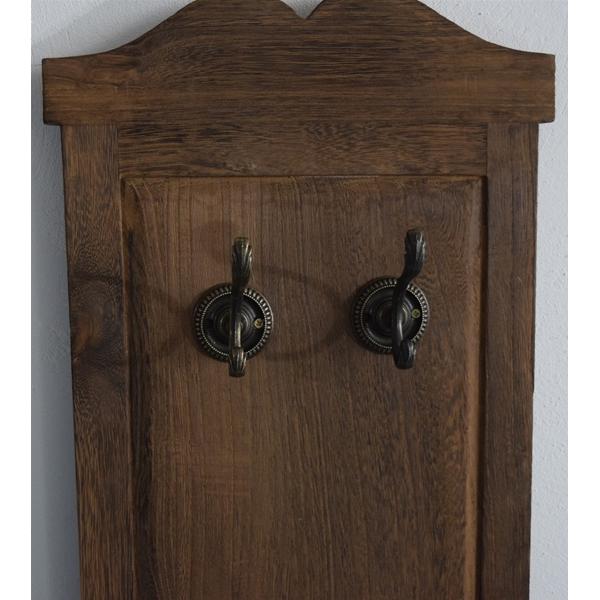 Appendiabiti da parete attaccapanni 6 ganci legno marrone - Smontare maniglia finestra senza viti ...