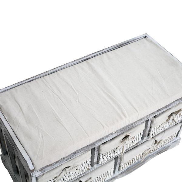 good great mobili rebecca banco asiento blanco gris cestas de mimbre vintage entrada bao with baos en gris y blanco with bao verde y blanco - Baos Vintage