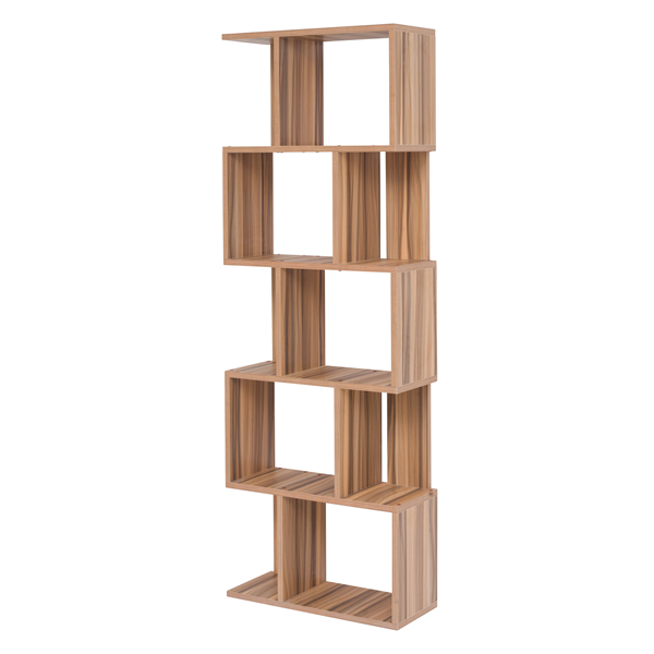 mobili rebecca bibliotheque etagere 5 etageres bois brun living bureau maison ebay. Black Bedroom Furniture Sets. Home Design Ideas