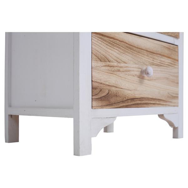 Mobili rebecca cassettiera comodino 3 cassetti legno naturale shabby vintage ebay - Mobili legno naturale ...