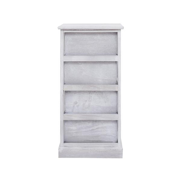 Mobili rebecca cassettiera comodino 4 cassetti legno for Mobili legno bianco anticato