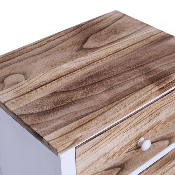 Mobiletto cassettiera comodino bianco shabby chic con 4 for Paulownia legno mobili