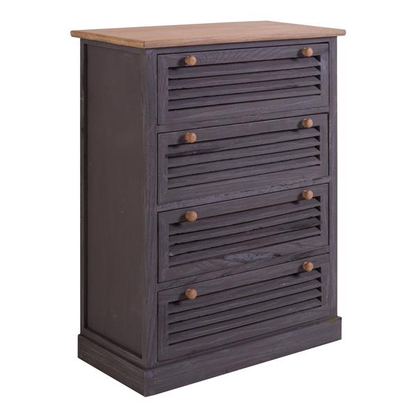 Cassettiera mobile credenza 4 cassetti legno scuro vintage for Paulownia legno mobili