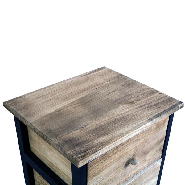 Cassettiera mobile bagno 4 cassetti legno scuro vintage for Paulownia legno mobili