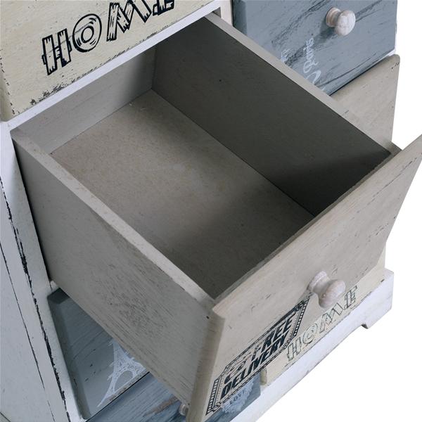 Cassettiera mobile bagno shabby legno chiaro 8 cassetti - Mobili bagno legno chiaro ...