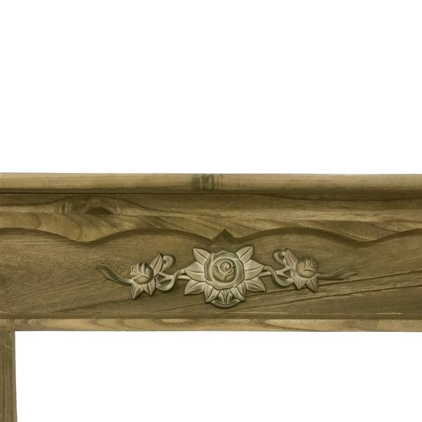 Chimeneas de madera decorativas trendy chimenea elctrica - Chimenea decorativa madera ...