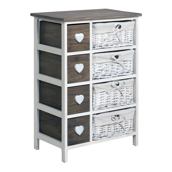 mobili rebecca commode meuble de rangement 8 tiroirs bois. Black Bedroom Furniture Sets. Home Design Ideas