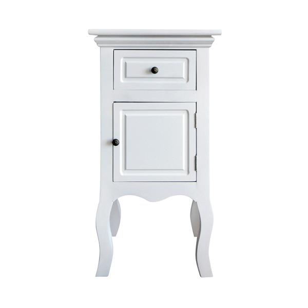 Comodini arredamento moderno shabby chic bianco 1 cassetto for Arredamento classico bianco