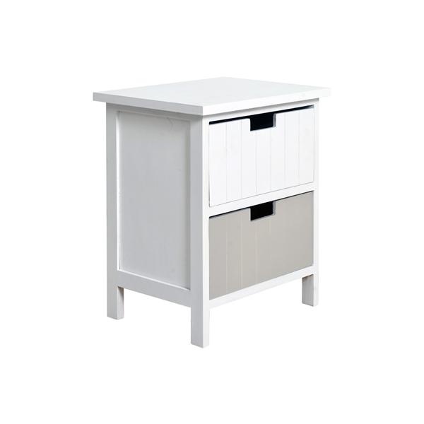Comodini shabby chic mobile bagno cameretta bianco grigio chiaro arredamento ebay - Bagno grigio chiaro ...