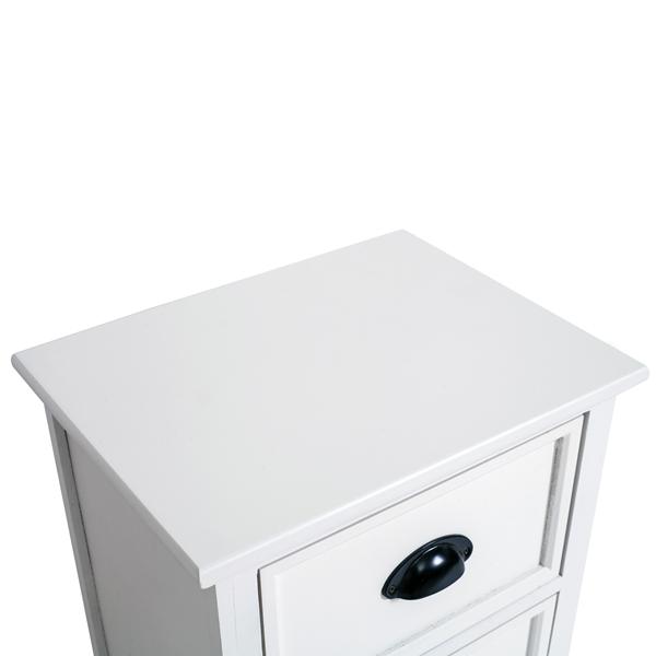 Mobili rebecca comodino mobile 2 cassetti legno bianco for Arredamento casa bianco