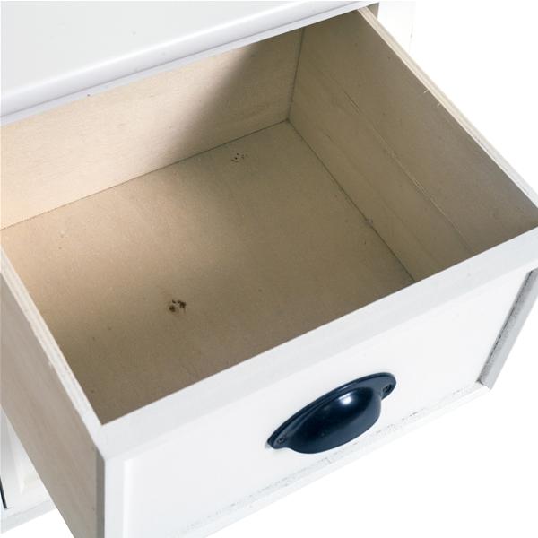 Mobili rebecca comodino mobile 2 cassetti legno bianco for Ebay arredamento casa