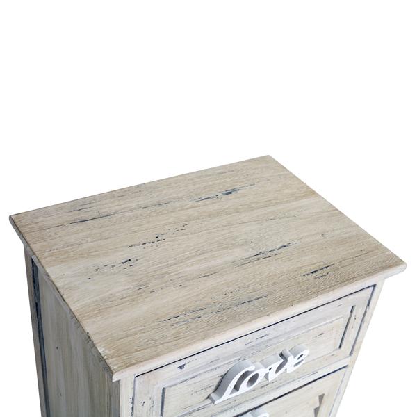 Mobili rebecca comodino mobiletto 2 cassetti legno bianco for Mobiletto camera