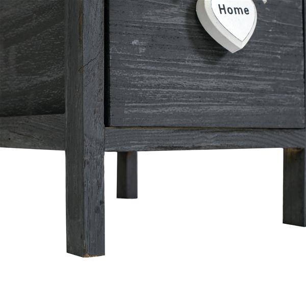 Mobili rebecca comodino mobiletto 4 cassetti grigio legno for Mobiletto camera