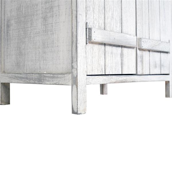 Mobili rebecca comodino mobiletto 2 ante legno bianco for Mobiletto camera