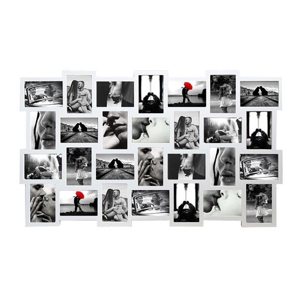 Mobili rebecca portafoto multiplo cornice da parete 28 foto bianco arredo casa ebay - Cornici multiple da parete ...