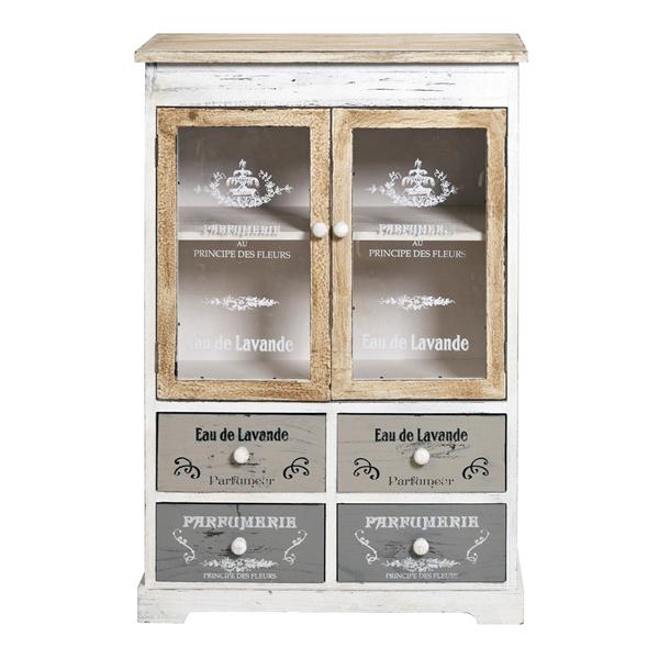 Mobili Rebecca® Credenza Mobile Cucina 4 Cassetti 2 Ante Bianco ...