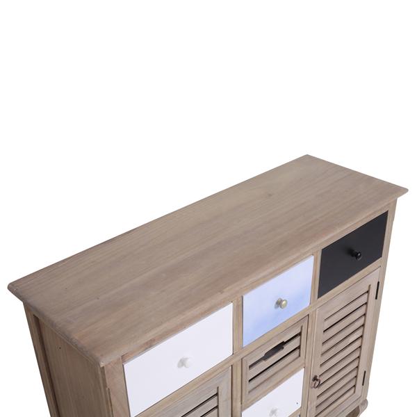 Credenza mobile vintage shabby legno 6 cassetti 2 ante for Mobili salotto legno