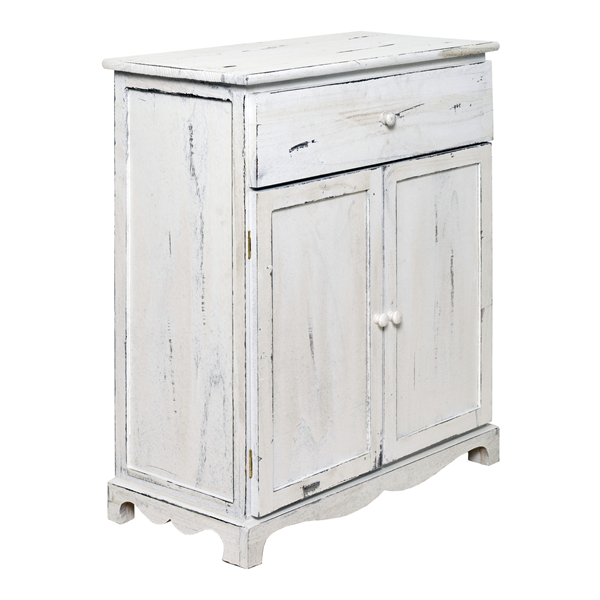 Foto Mobili Shabby Chic.Mobili Rebecca Cupboard Cabinet 1 Drawer 2 Door Wood White Shabby