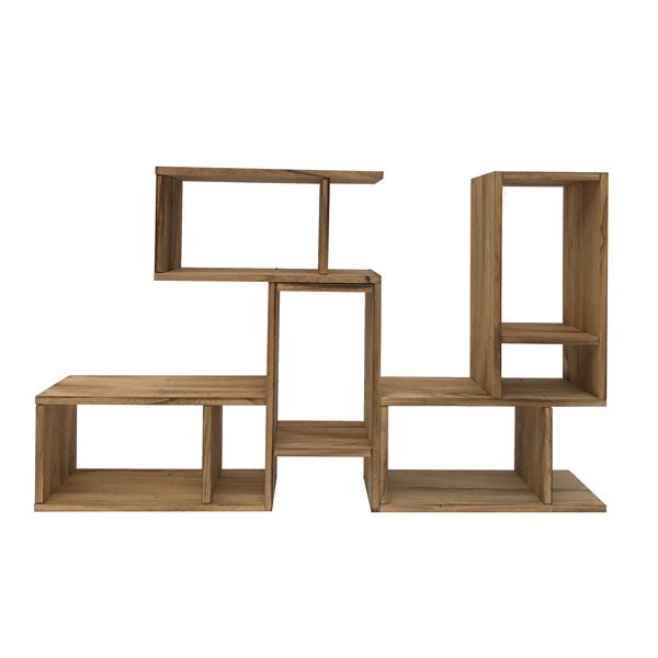 Mobili rebecca estanteria mueble libreria madera marron for Muebles ebay