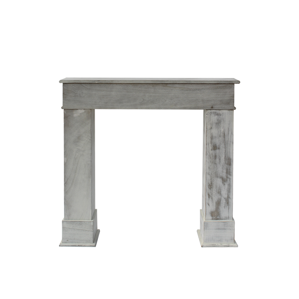 Fireplace decorative frame wood white classic design living room home decor ebay for Camino finto shabby