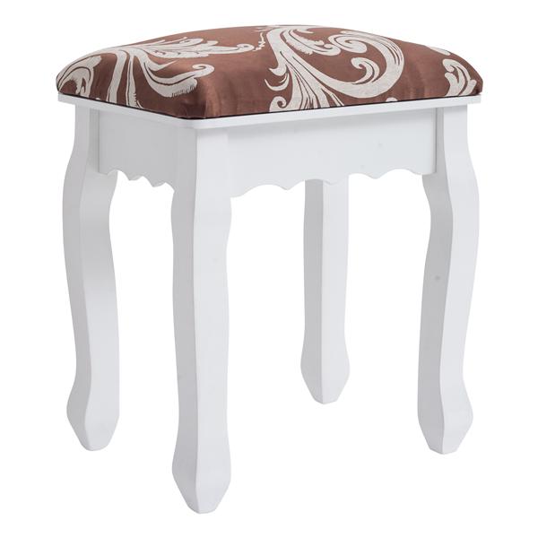Mobili Rebecca® Hocker Stuhl Gepolstert Holz Weiß Klassisches ...