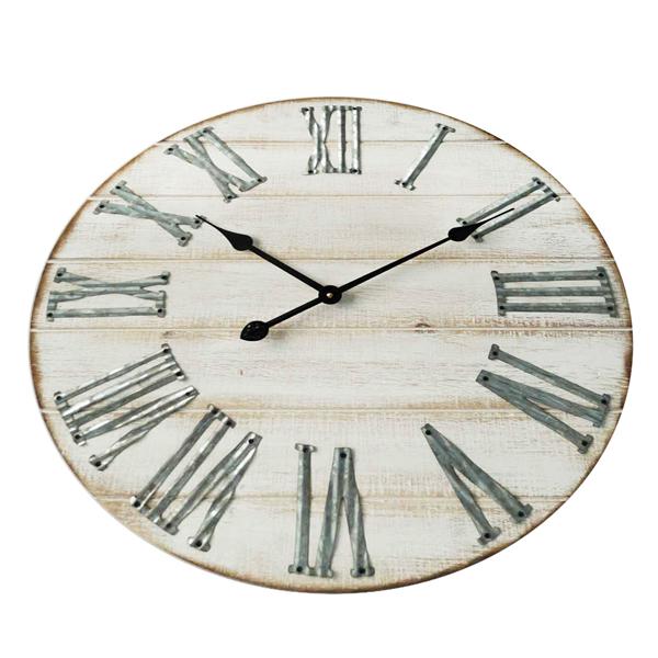 mobili rebecca horloge murale bois metal design vintage 60 cm ebay. Black Bedroom Furniture Sets. Home Design Ideas