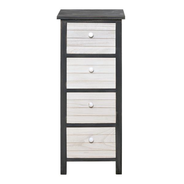 mobili rebecca kommode wandschrank 4 schubladen holz wei grau vintage k che ebay. Black Bedroom Furniture Sets. Home Design Ideas