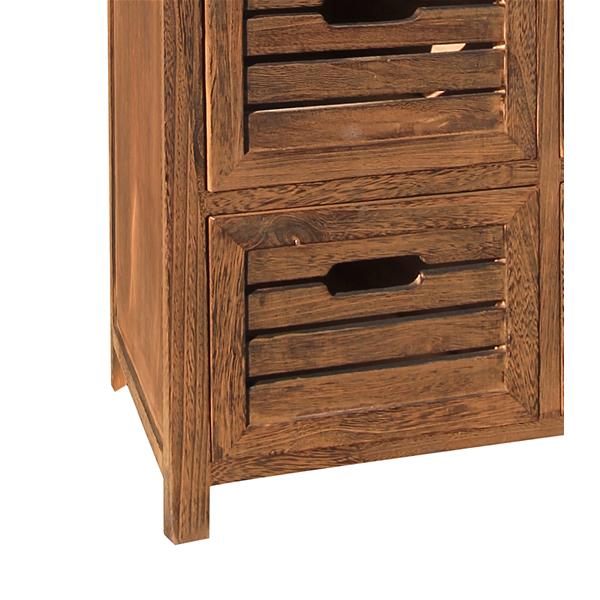 mobili rebecca kommode m bel 6 schubladen braun vintage retro schlafzimmer bad ebay. Black Bedroom Furniture Sets. Home Design Ideas
