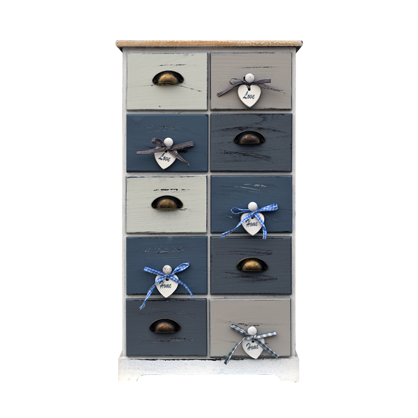 mobili rebecca kommode 10 schubladen holz wei grau schlafzimmer ebay. Black Bedroom Furniture Sets. Home Design Ideas