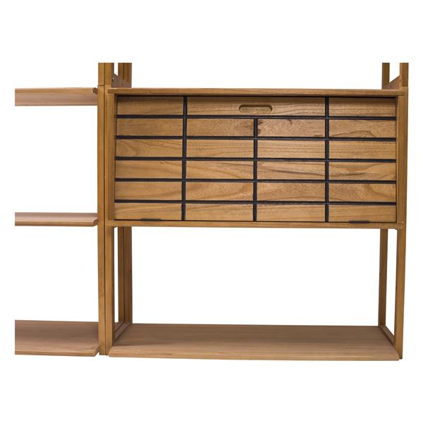Mobili rebecca libreria scaffale cassetti 10 ripiani for Mobili salotto legno