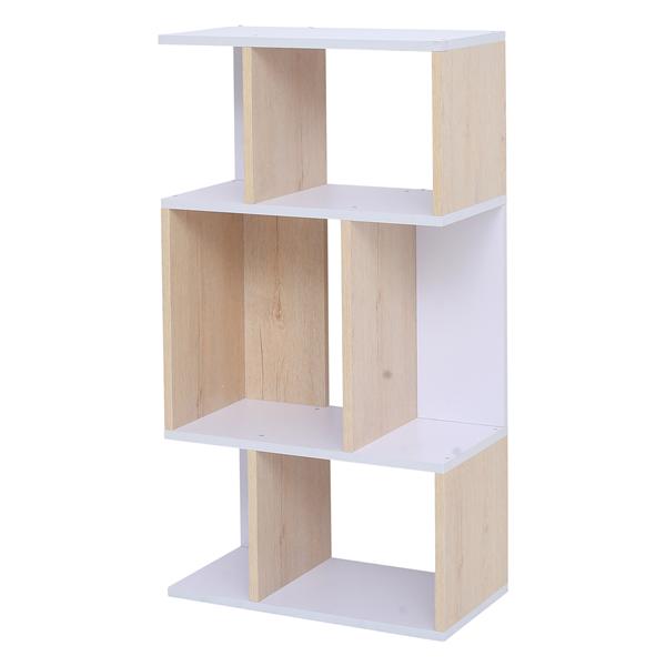 mobili rebecca libreria scaffale 4 mensole legno chiaro