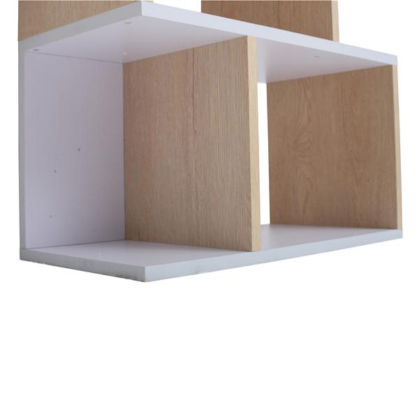 Mobili rebecca libreria scaffale 4 mensole legno chiaro for Mensole legno bianco