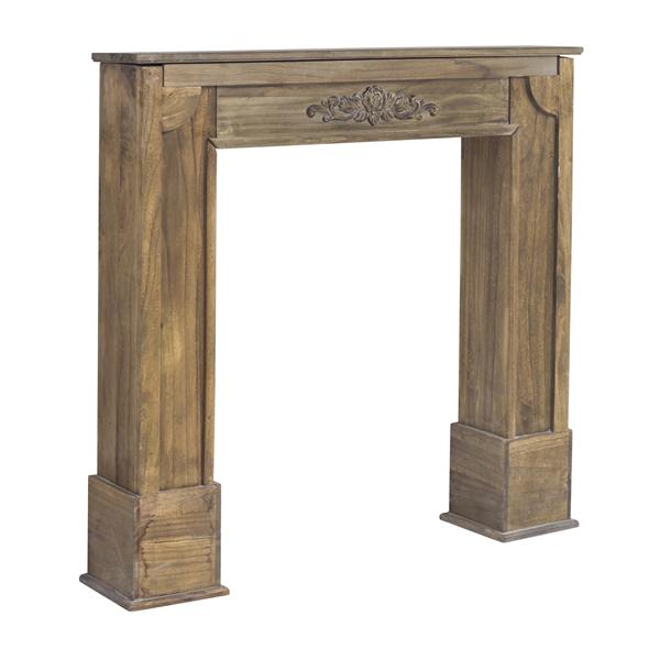 mobili rebecca marco chimenea decorativa madera marron estilo decapado salon ebay. Black Bedroom Furniture Sets. Home Design Ideas
