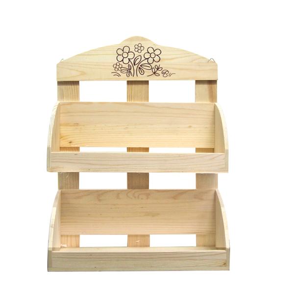 Mobili rebecca mensola scaffale portaspezie legno chiaro - Trattare piano legno ikea ...