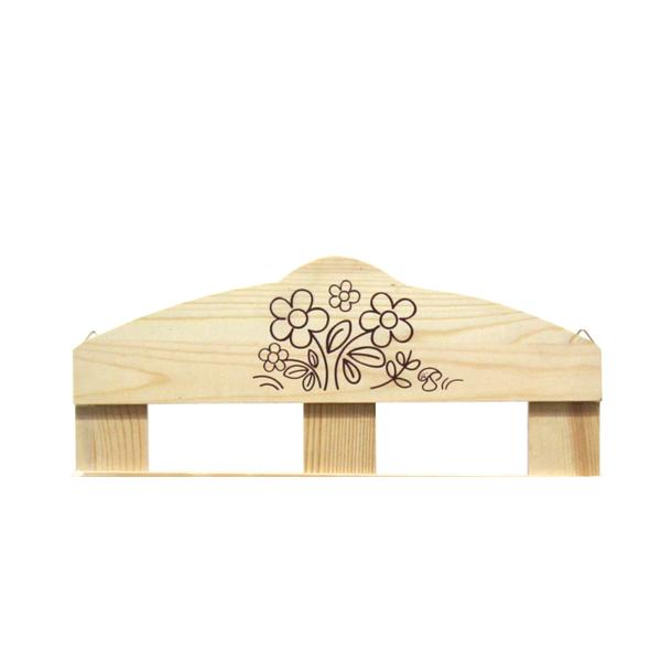 Mobili rebecca mensola scaffale portaspezie legno chiaro - Scaffale per cucina ...