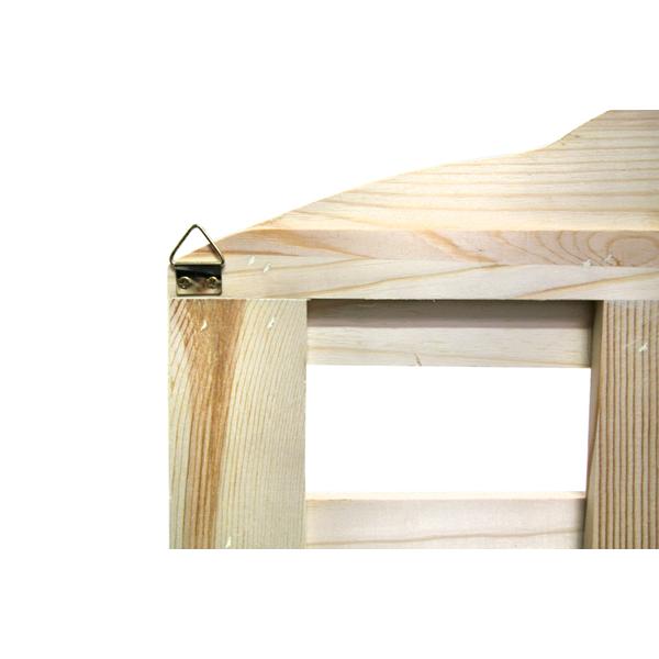Scaffali mensole legno naturale chiaro 2 ripiani rustico for Mensole legno naturale